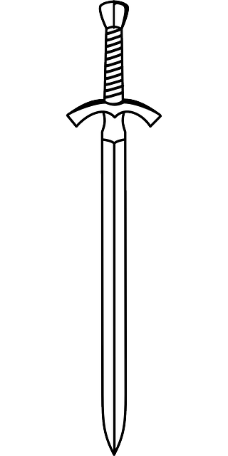 Weapon drawing outline. Sword google search reading