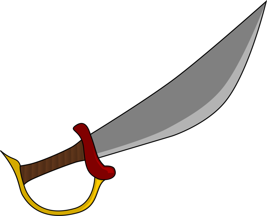 Saber vector cutlass. Knife sword pirate computer