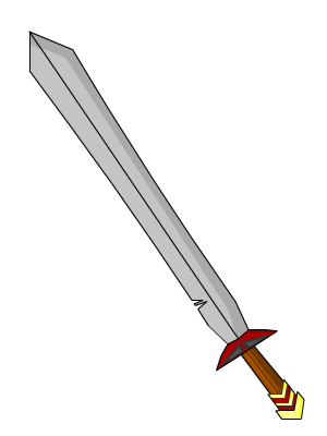 Drawing panther dagger. Simple sword by deadlypanther