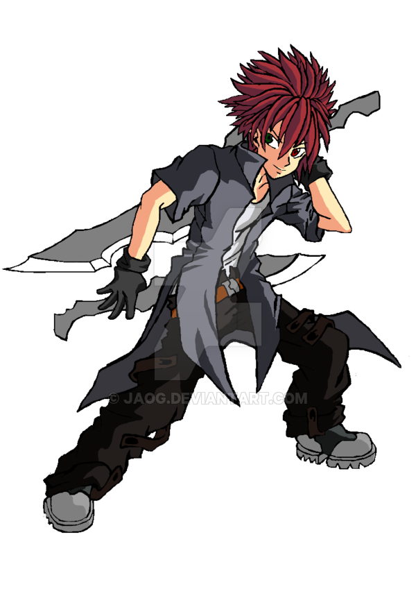 Swordsman drawing anime. Dual by jaog on