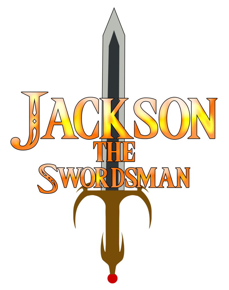 Swordsman drawing demon. Jackson the copy by