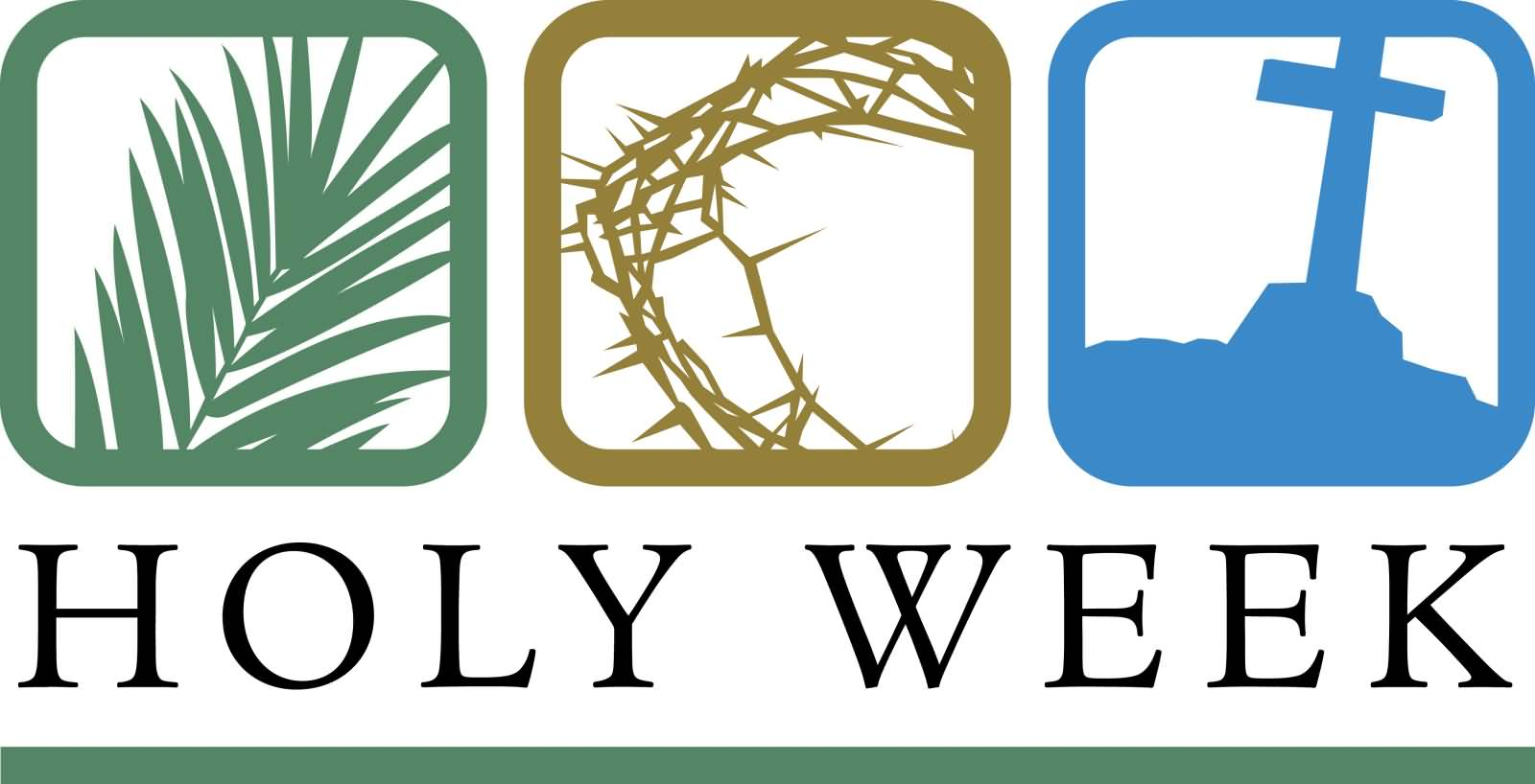 2018 clipart holy week. Most adorable greeting