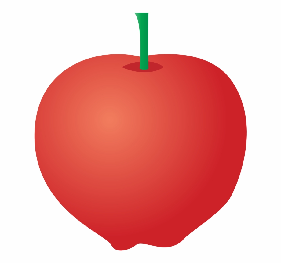 Symmetric apple. Free download clipart with