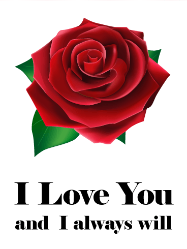 Sympathy clipart red rose. I love you card