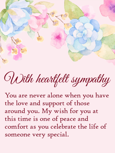 Sympathy clipart sympathy card. You are never alone