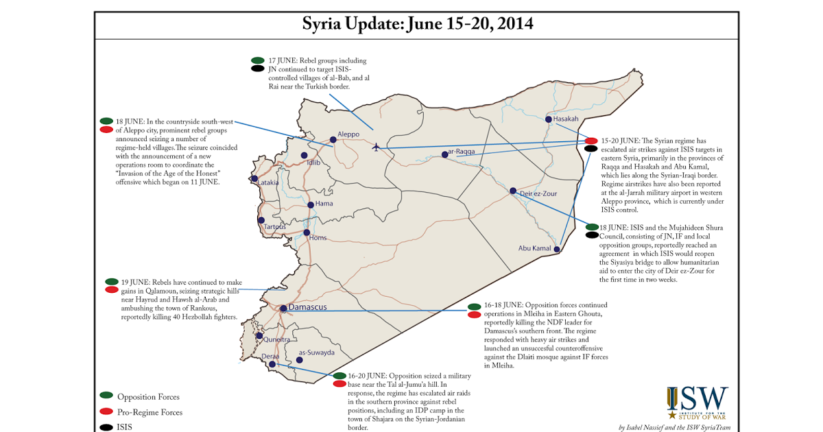 Syria. Isw blog update june