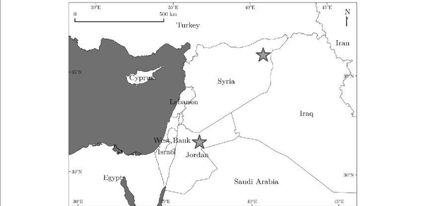 Syria. Location of the two