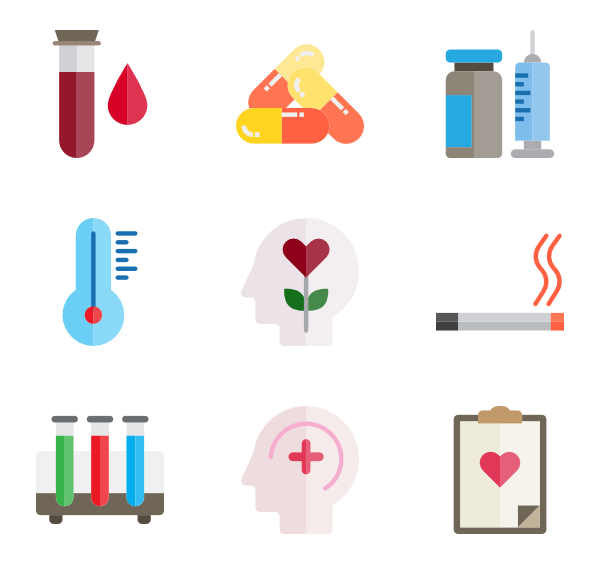 Vector syringe red medical symbol. Icons free health care