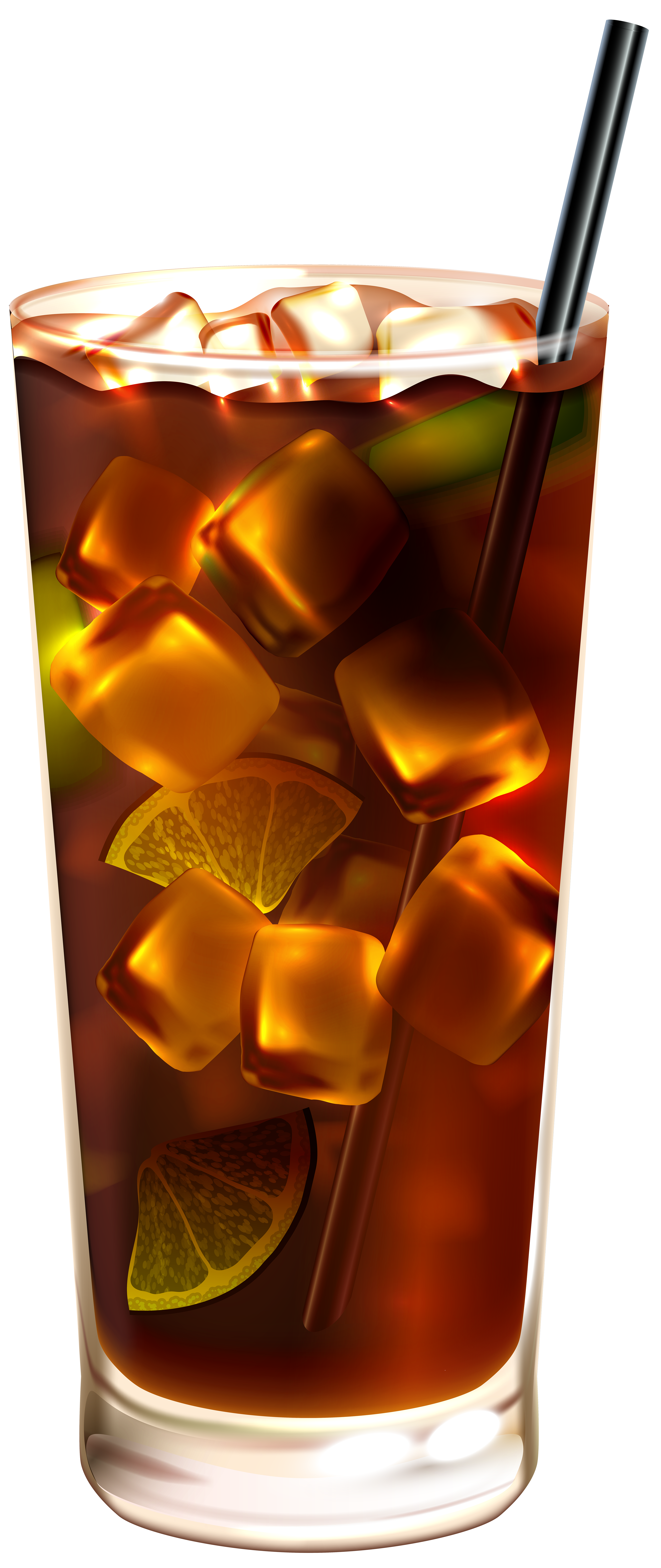Soda glass png. Cola with ice clip