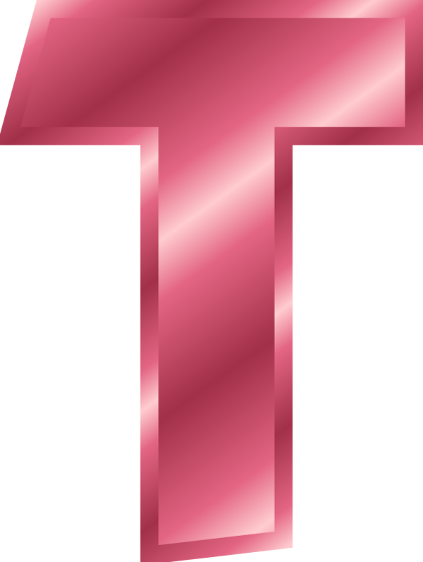 Letters vector pink. Free letter t cliparts