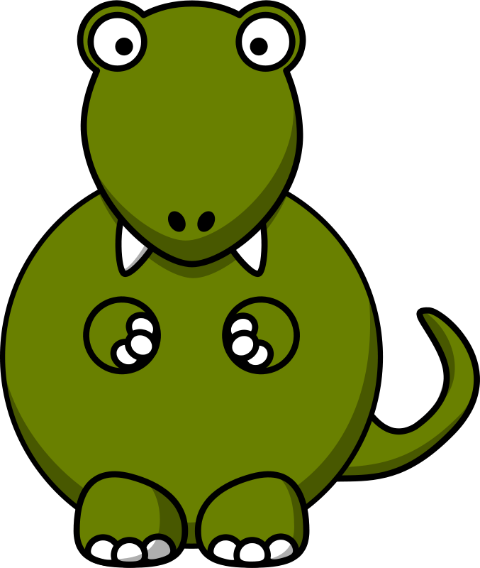 Cute clipart t rex. Free to use public