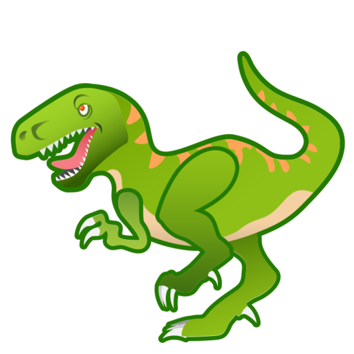 T rex clipart face. Google android pie
