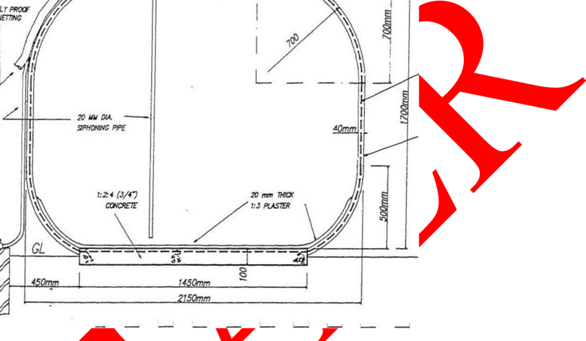 T drawing detailed. Diagram of ferro cement