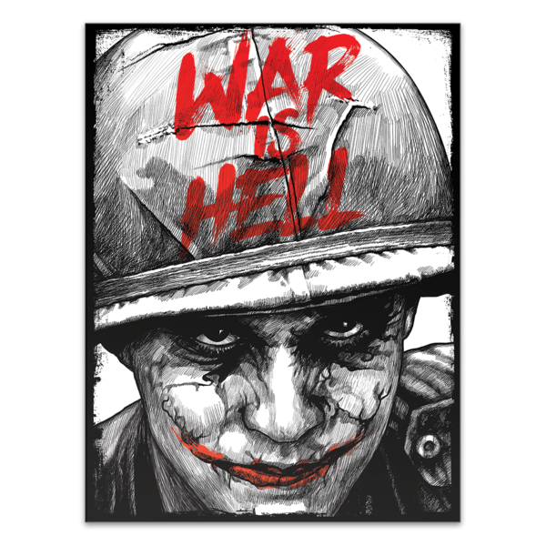 T drawing poster. War is hell oaf