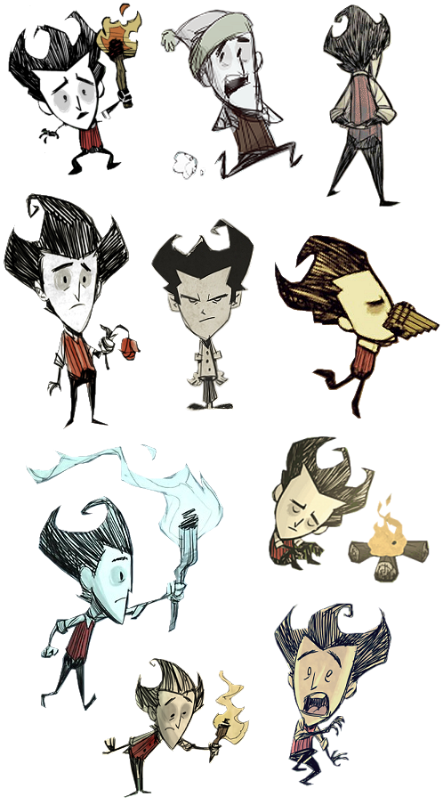 T drawing poster. Don starve wilson collection