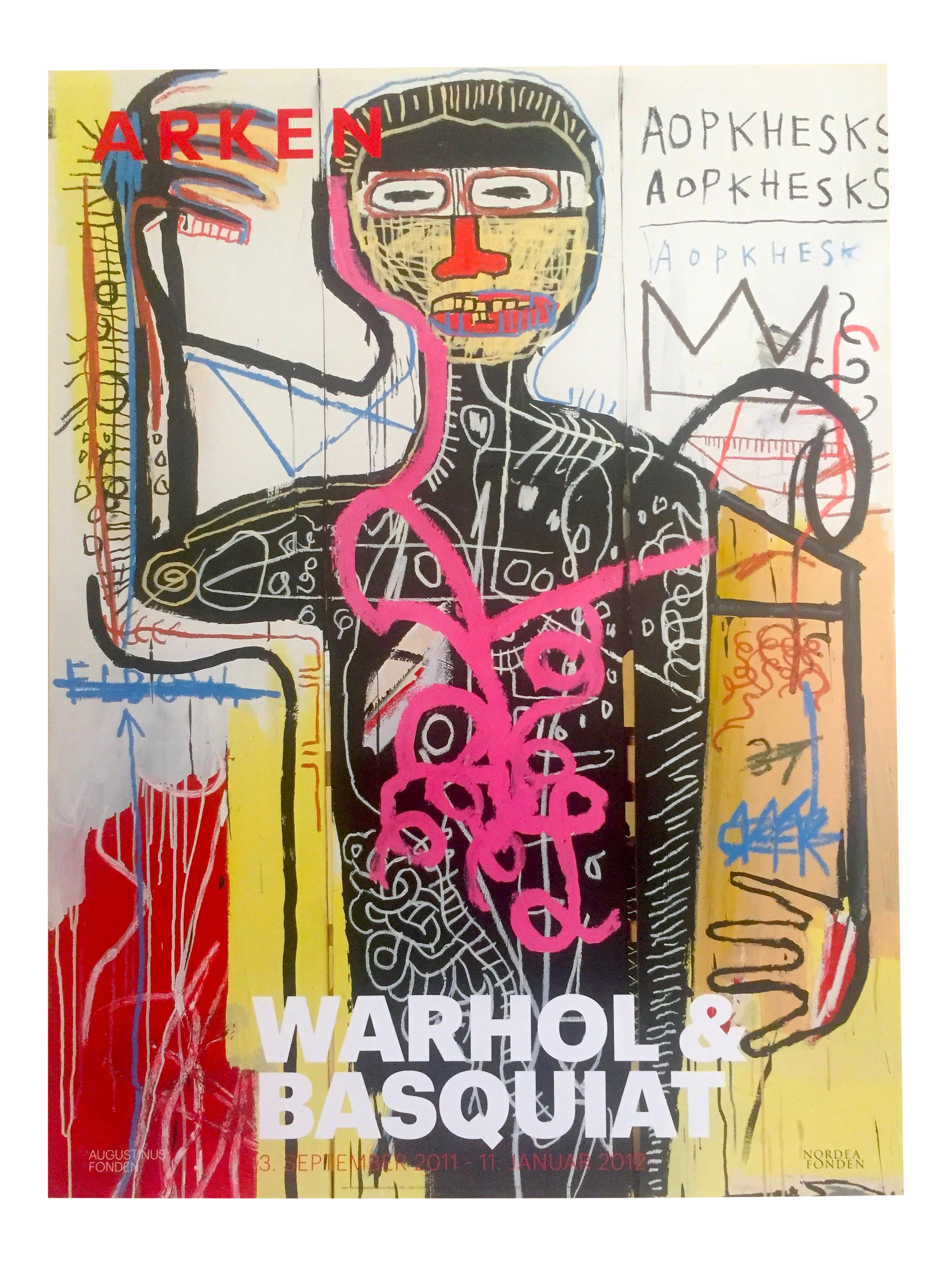 T drawing poster. Andy warhol jean michel