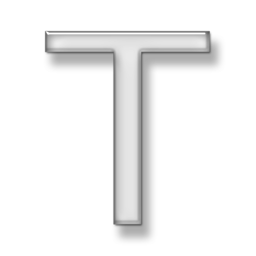 T transparent. Hd letter icon free