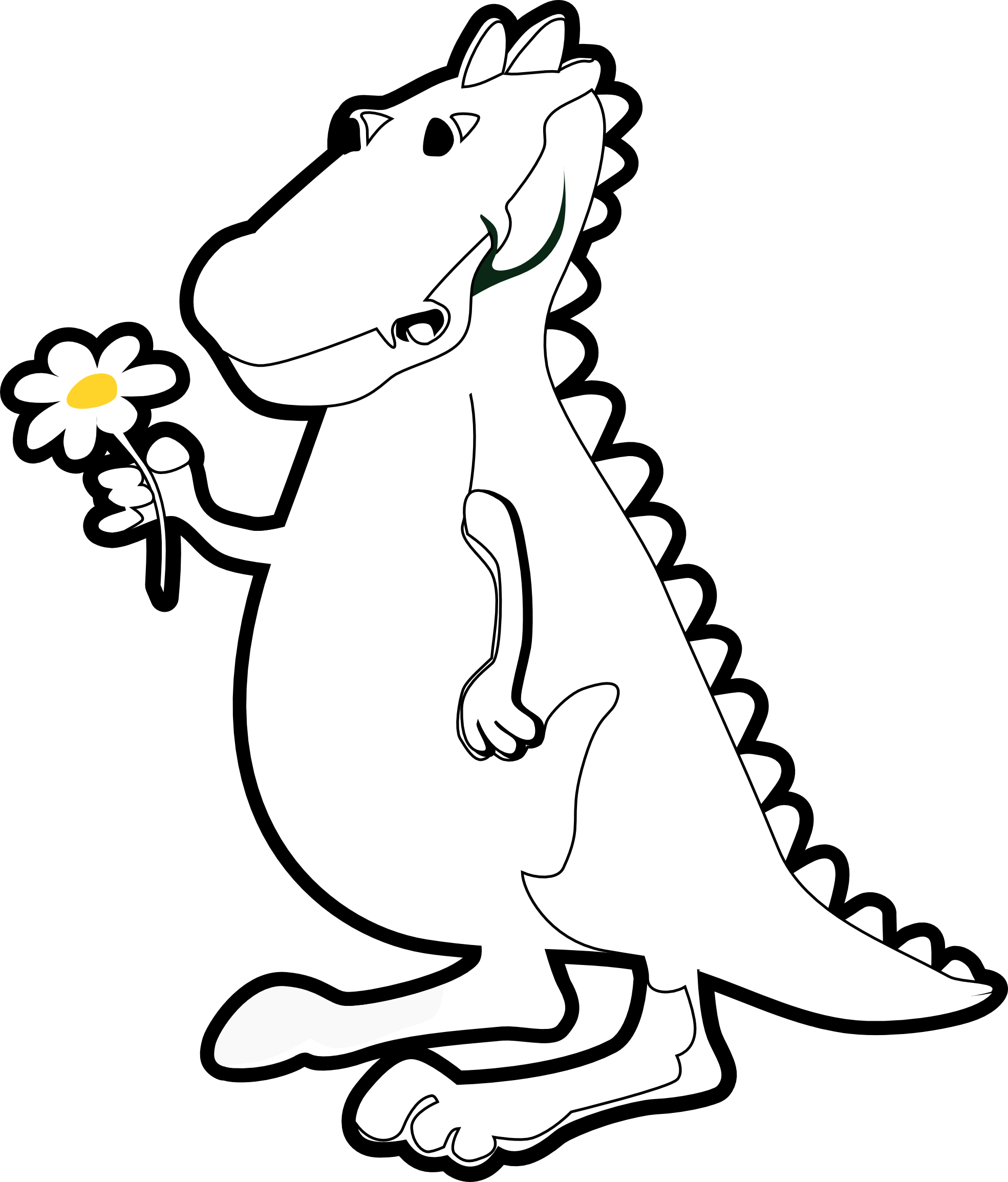 T rex clipart easy dragon. Simple drawing at getdrawings