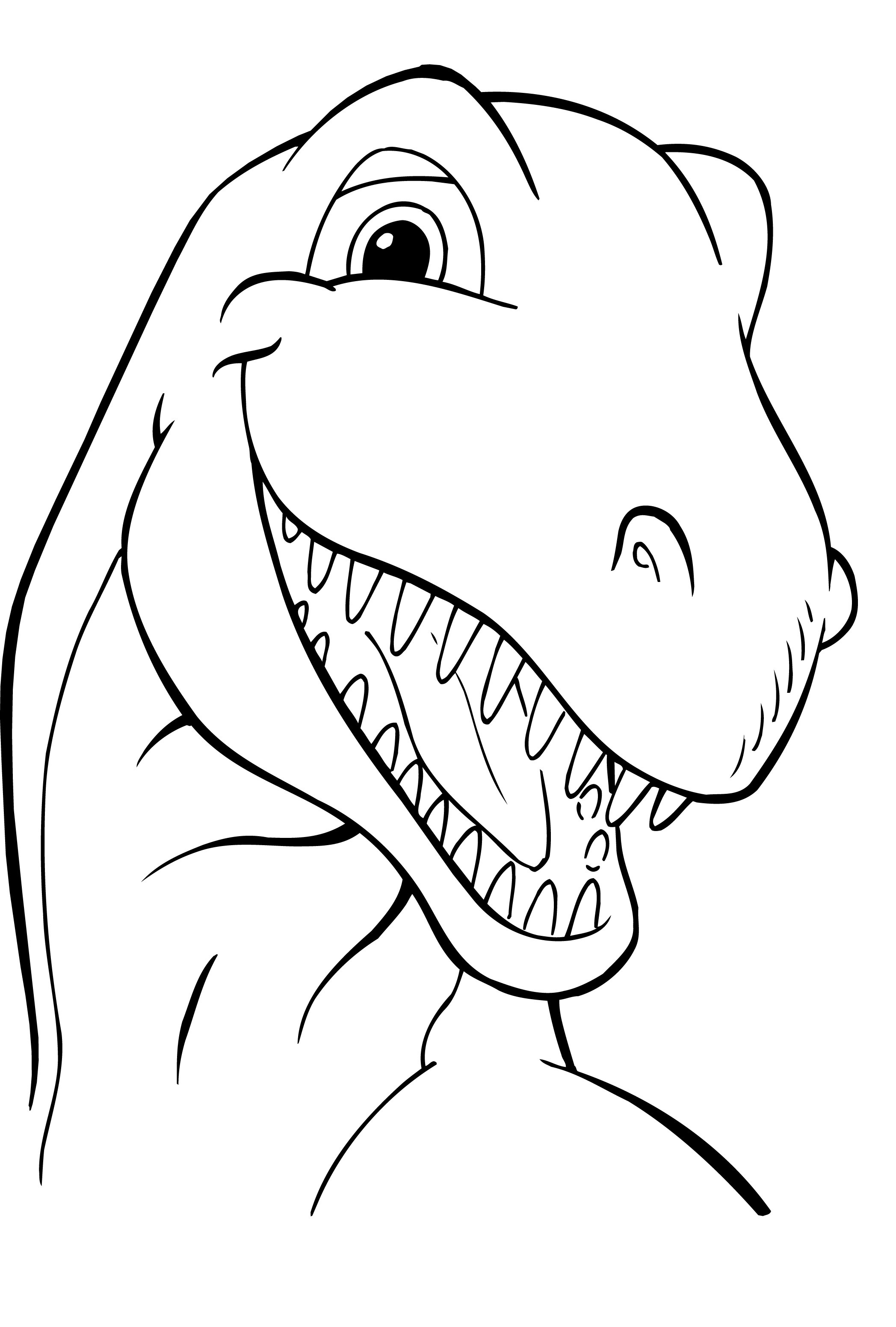 Dinosaur Coloring Pages Cute Cartoon Dinosaur Coloring Page Free ... | 3101x2095