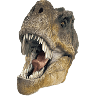 T rex head png. Transparent stickpng