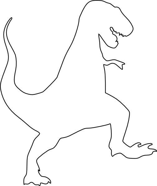 T rex silhouette png. Clip art at clker