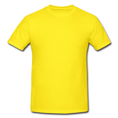 Transparent tshirt round neck. Cotton plain yellow casual