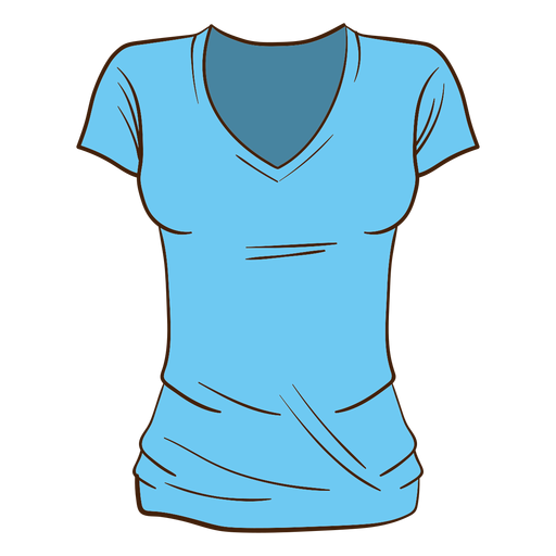 T shirt cartoon png. Blue women transparent svg