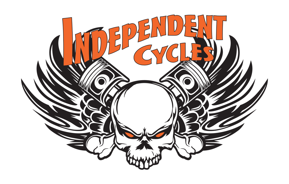 T shirt designs png. Independent cycles design