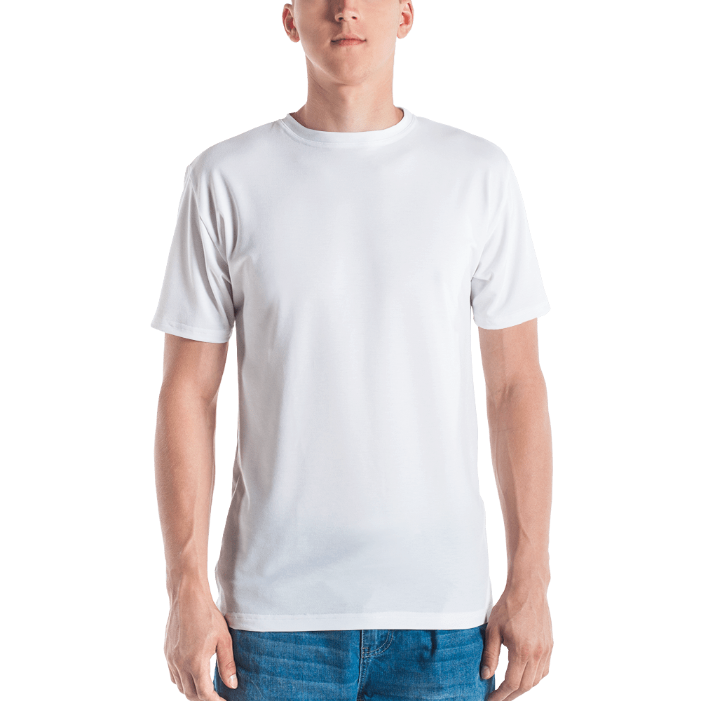 T shirt mockup png. All over cut sew