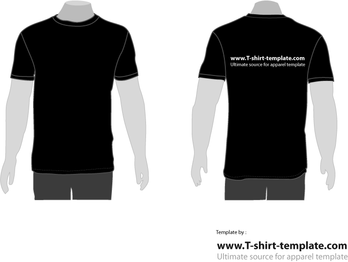 Jersey vector front back. T shirt png and