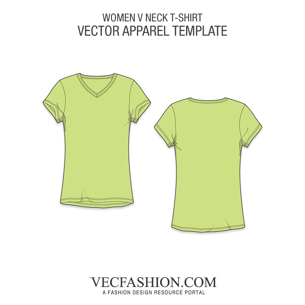 T shirt png template. Basic v neck vecfashion