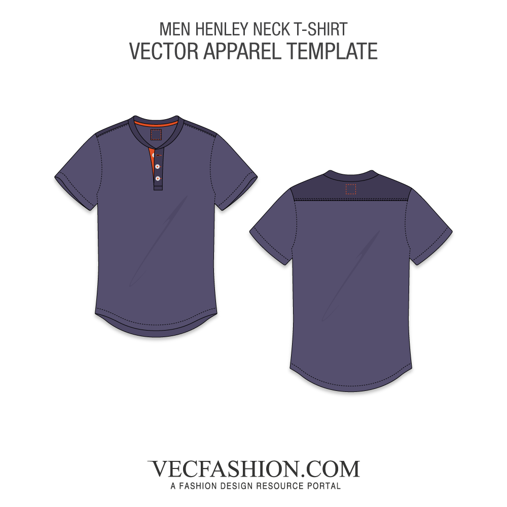 Men henley neck t. Vector tee side png royalty free download