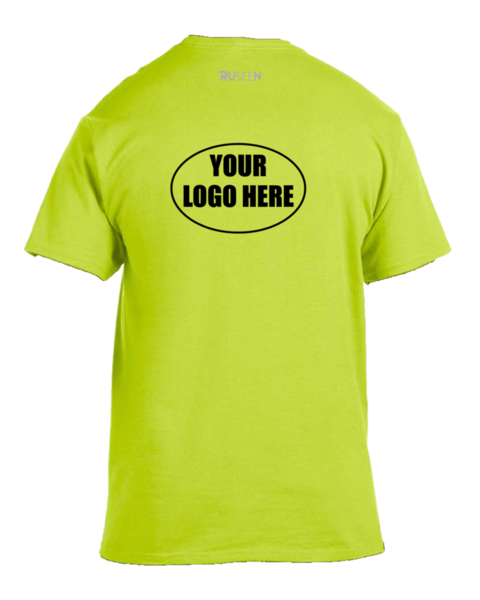 T shit logo here png. High visibility short sleeve