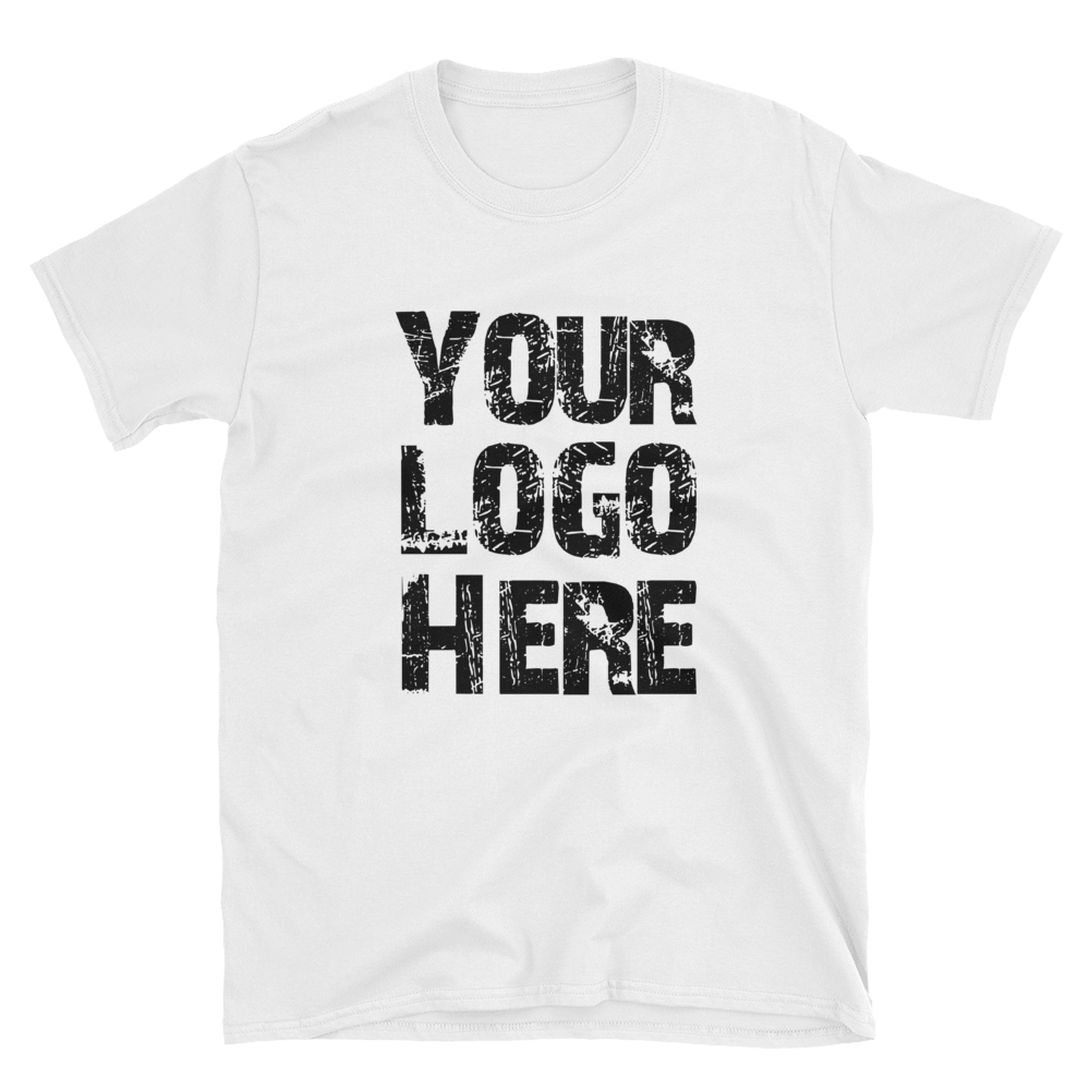 T shit logo here png. Your white shirts max