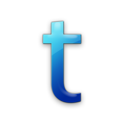 T transparent blue letter. Displaying gallery images for