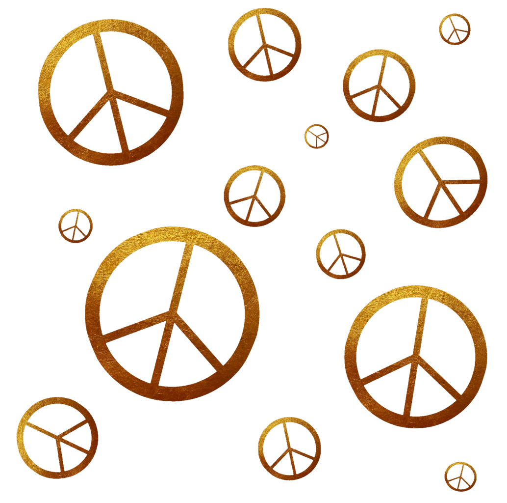 E transparent gold. Peace overlay sticker by
