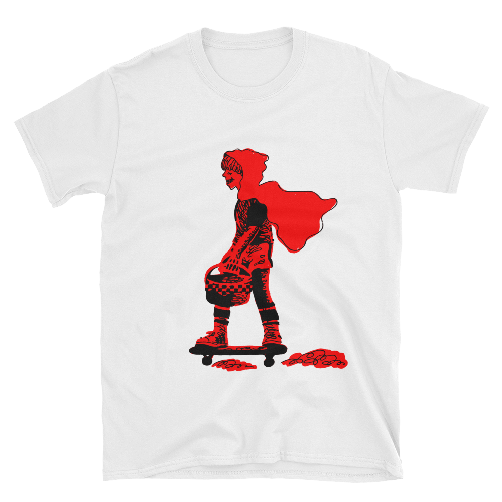 T transparent style. Shirts red riding on