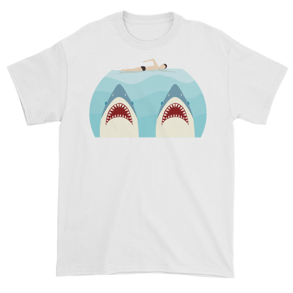 T transparent style. Jaws twin parenting shirt