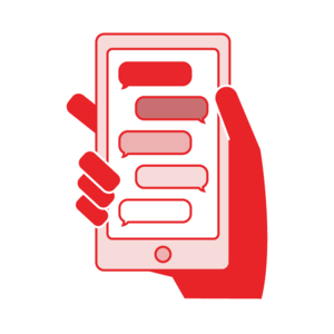 Texting in crisis line. T transparent text jpg black and white