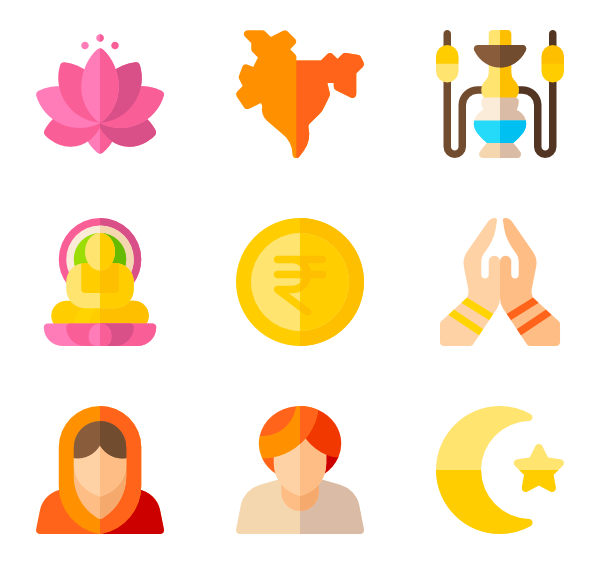 Vector filter indian. India icons free