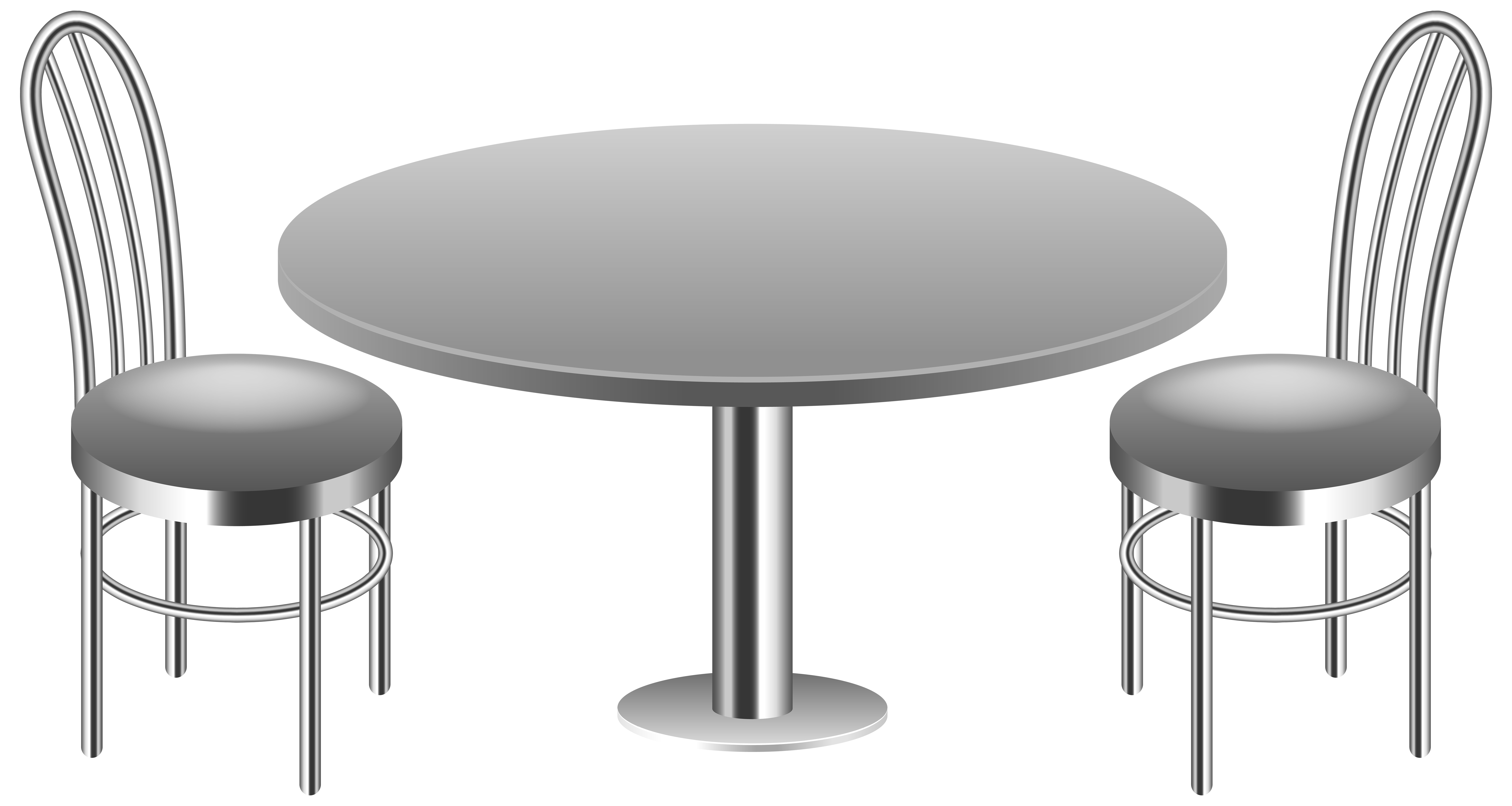 Chair clip table. With chairs transparent png