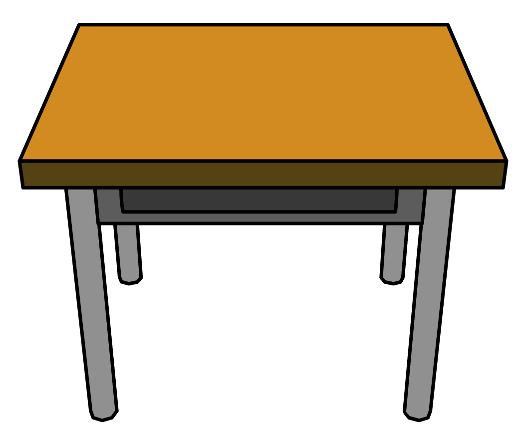 Table clip art. School freeuse library