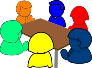 Table clip cartoon circle. Round discussion encode clipart