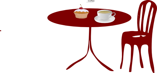 Table clip coffee. Chair cupcake art at