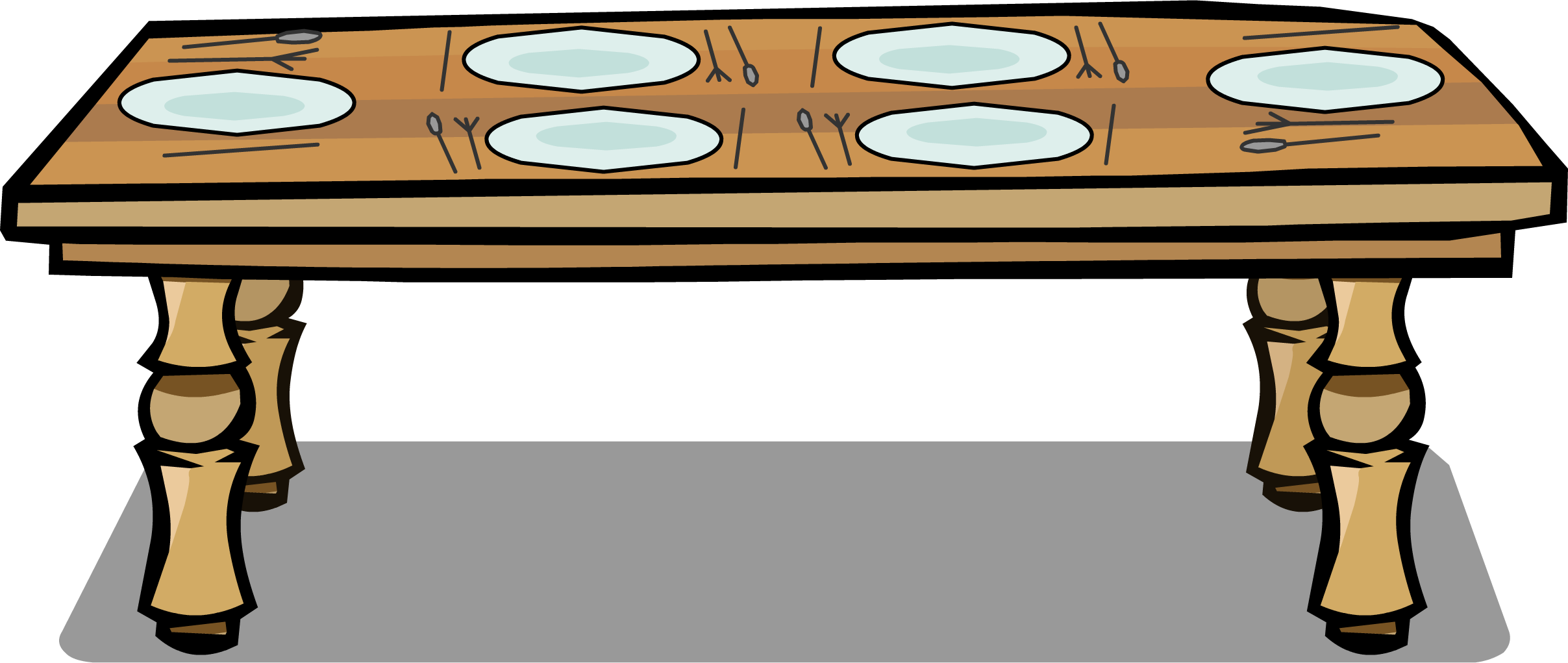 Table clip dinner. Image sprite png club