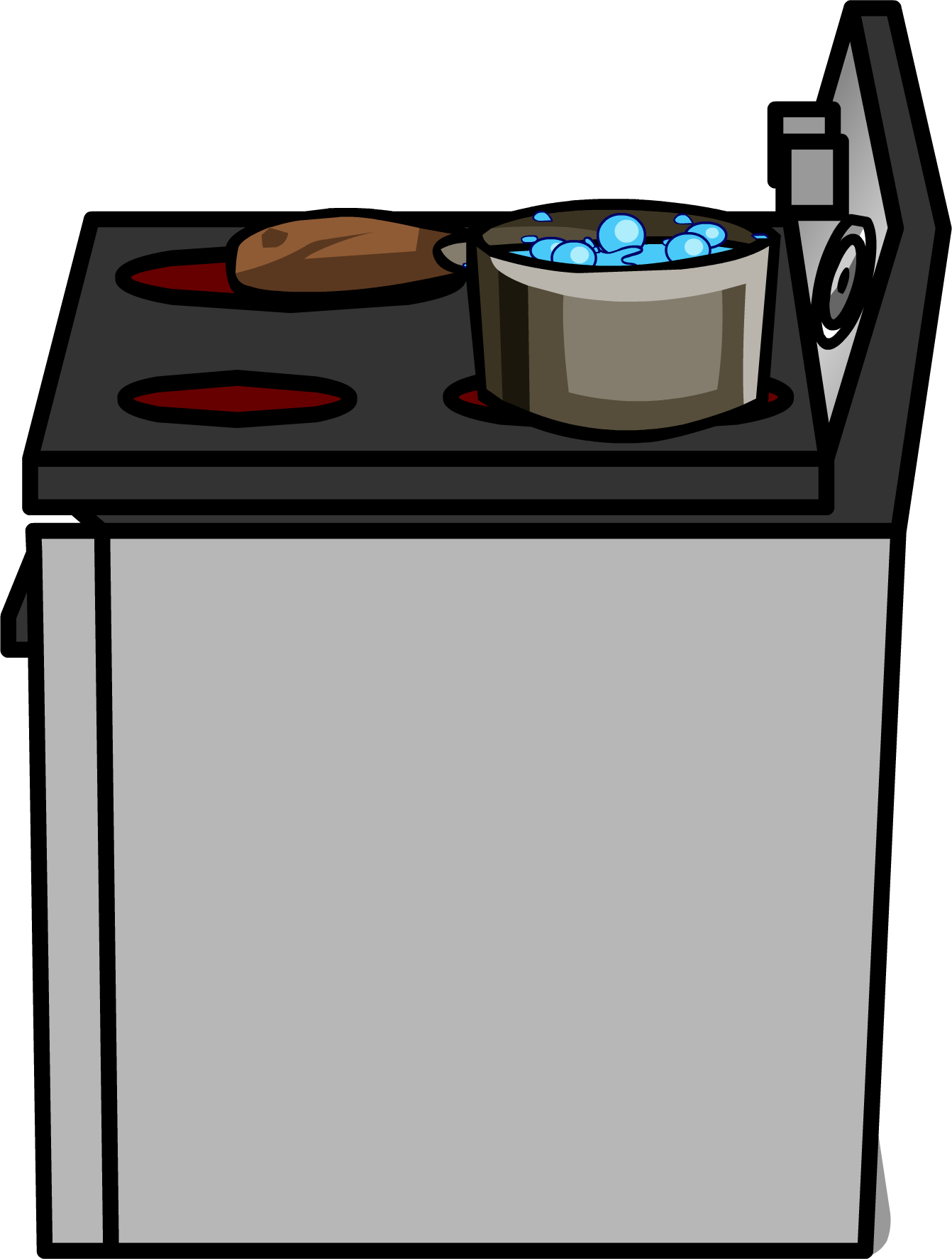 Table clip stainless steel. Image stove sprite png