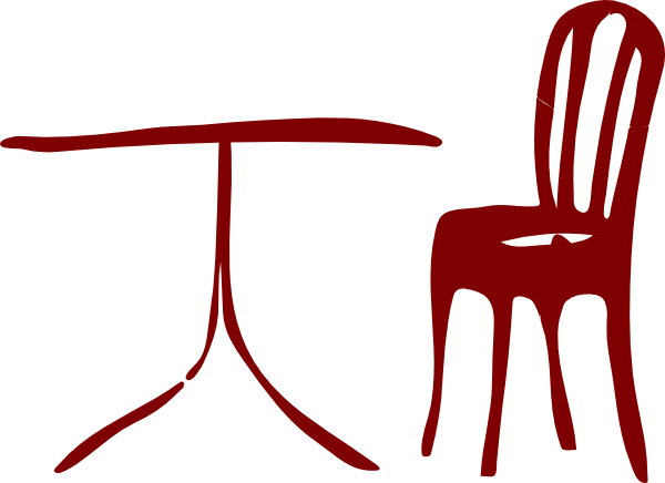 Vector chair clip art. Chairs table online royalty