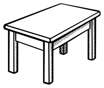 Drawing chairs classroom. Table chair furniture computer