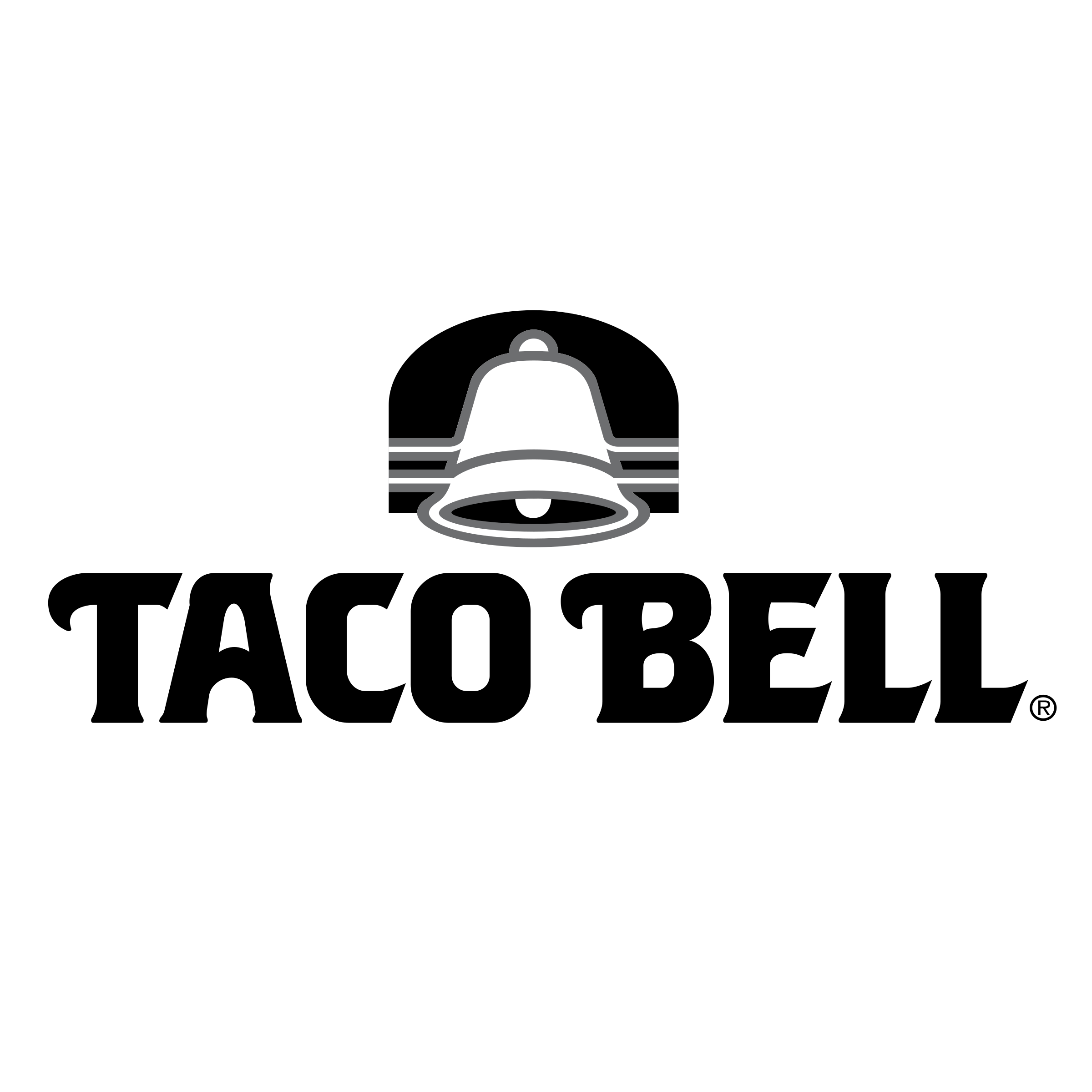 Taco bell black and white png. Logo transparent svg vector