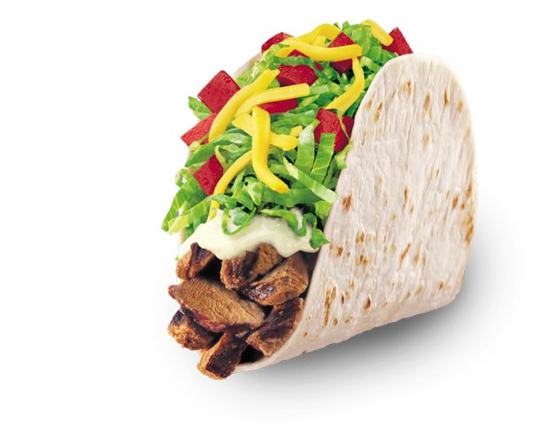 Grilled steak ask for. Taco bell soft taco png banner free